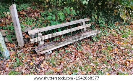a old and rustical bench