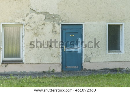 a old house with an door with...