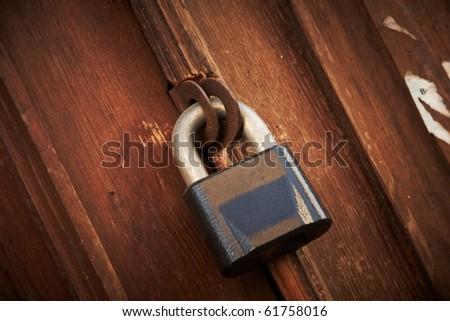 a old locked door