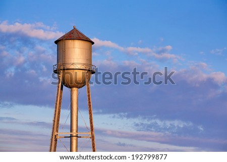 a old metal water tank  in the...