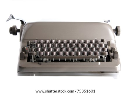 a old typewriter