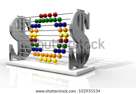 A one of a kind abacus that outwardly promotes wealth, yet unassumingly spells out the phrase SOS