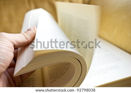 A open book with many pages