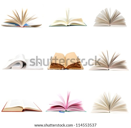 A opening books collage