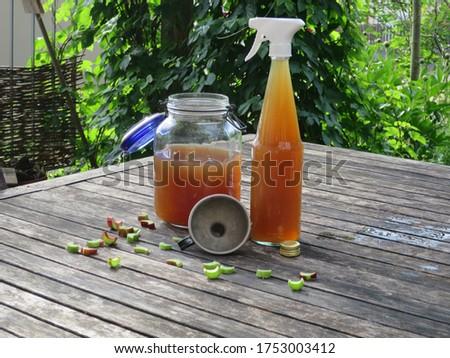 A organic fertilizer manure for organic farming or gardening. Homemade organic fertilizer. Self-made garden fertiliser. Organic liquid fertilizer. tea fertilizer to provide nutrient to plants.