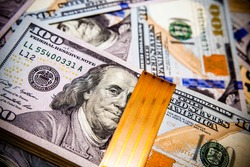 a pack of lies the US currency on background of dollars