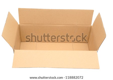 A packing rectangle box isolated white