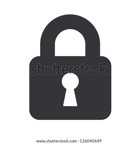 A padlock isolated against a white background