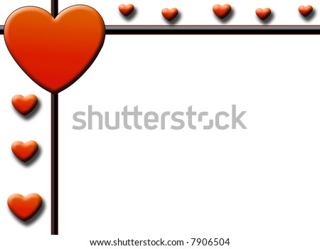 valentines day card heart border stock photo stock image clipart