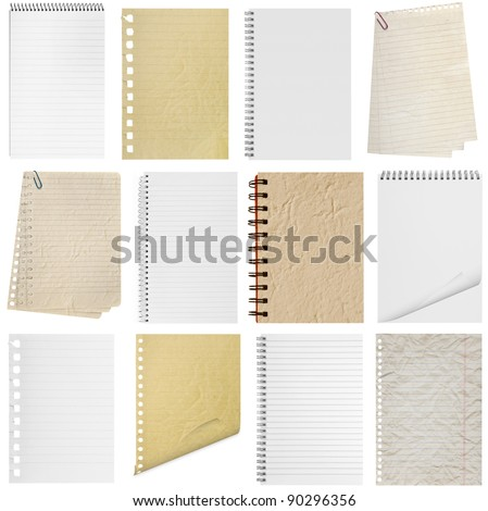 A page paper texture ripped off from the notebook. - stock photo