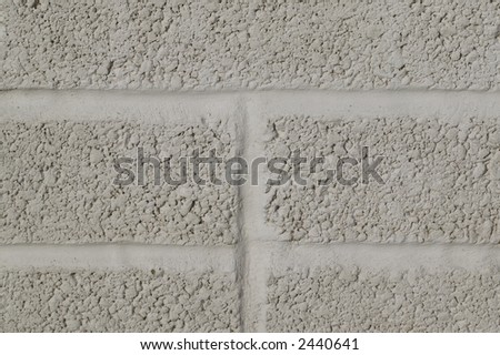 A painted breeze block wall, suitable for backgrounds