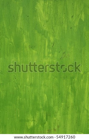 A painted green wall