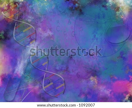 A painterly Science and DNA Composition