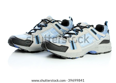 A pair of athletic shoes, isolated on white