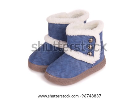 A pair of baby blue boots