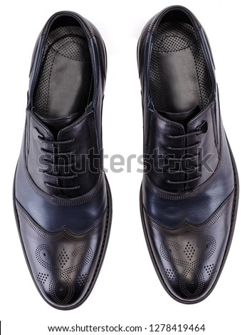 a pair of black colour classical man oxford shoes #1278419464