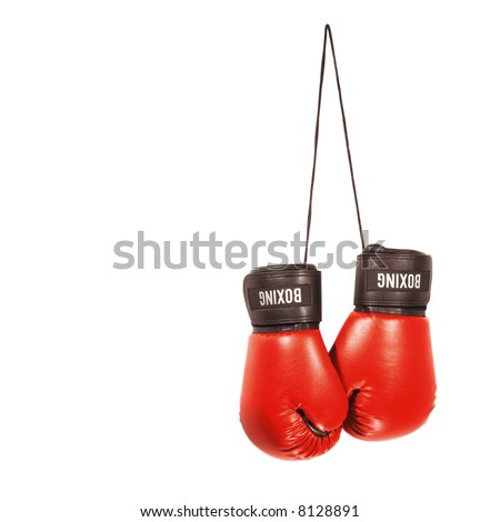 A pair of boxing gloves isolated on a white background