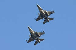 a pair of F-16 Fighting Falcon