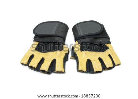a pair of gloves isolated on white background