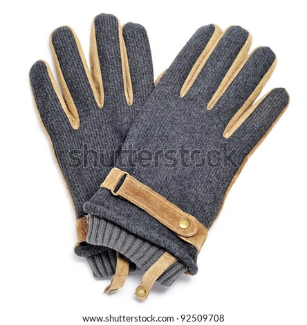 a pair of gloves on a white background