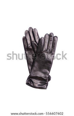 A Pair of leather gloves isolated on white