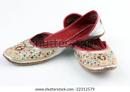 A pair of ruby oriental  shoes