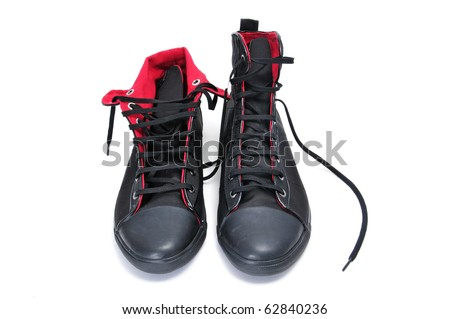 a pair of sneaker boots isolated on a white background
