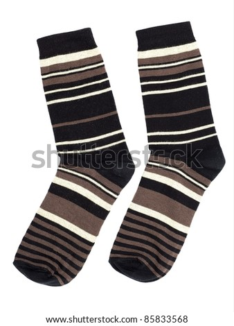 A pair of socks isolated on white background