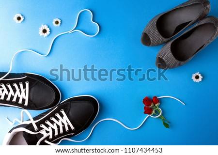 a pair of women s high heel...