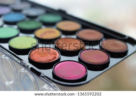 A palette of water colors #1365592202