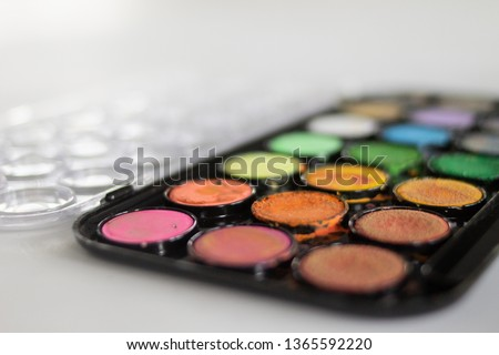 A palette of water colors #1365592220