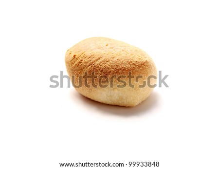 A pandesal bread of the Philippines isolated on white background