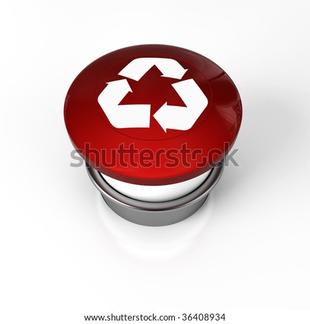 a panic button for recycling symbol stop warning