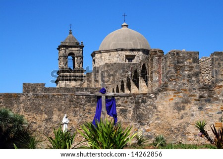 A pano of Mission San Jos? in San Antonio Texas