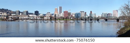 A panorama of Portland Oregon. #75076150
