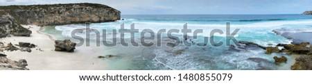 A Panorama of shoreline, Kangaroo Island, Australia