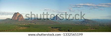 A panorama of the Gasshouse Mountains, #1332565199