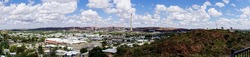 A panorama of the town of Mount Isa in Western Queensland