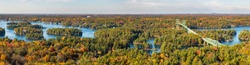 A panorama of Thousand Islands, Ontario, Canada
