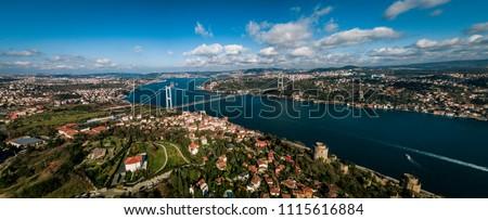 A panorama photo of Bosporus/Istanbul