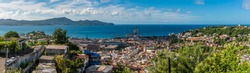 A panorama view across the capital of Martinique, Fort-de-France