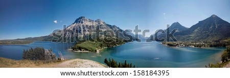 A panorama view in waterton national park