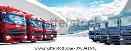 a panoramic picture in web page format with cargo fleet