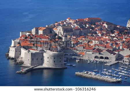 A panoramic view of city Dubrovnik, Croatia