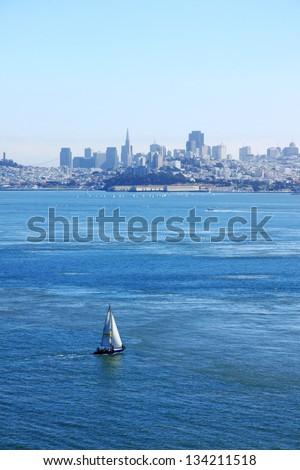A panoramic view of San Francisco bay