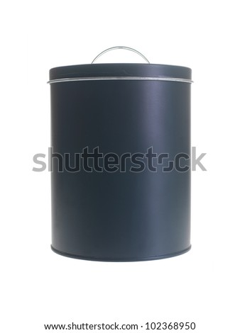 A pantry cannister isolated against a white background