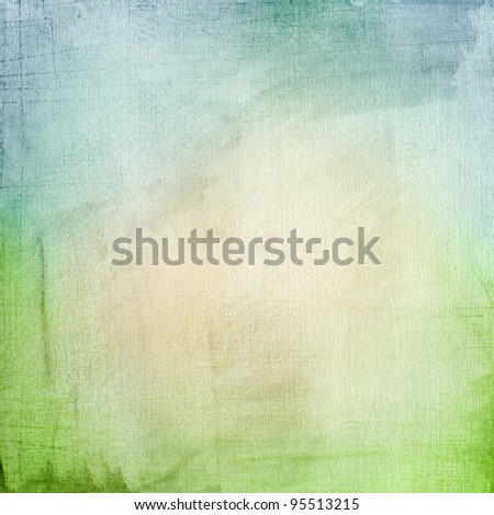 A paper background with a blue-green gradient