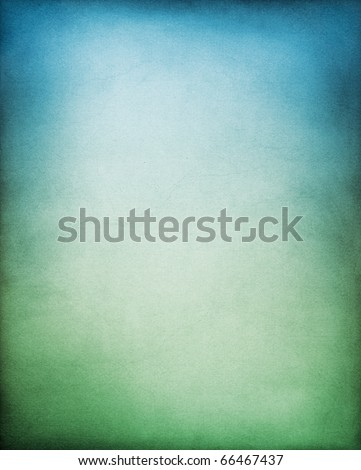 A paper background with a blue to green gradation.