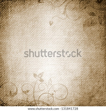 A paper background with floral elements