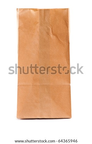 A paper bag. Isolated on white.
